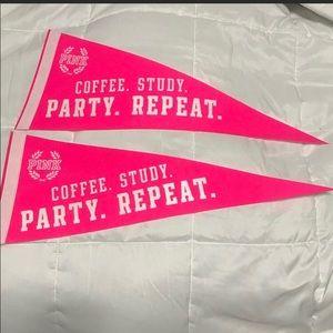 Victoria Secret Pink Pennants Lot 2